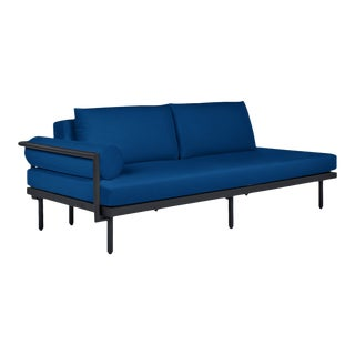 Avenue Sofa with Left Bolster in Pacific Blue For Sale
