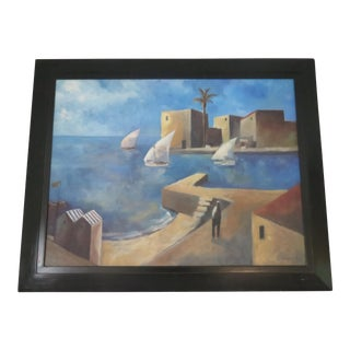Vintage French Morocco Painting, For Sale