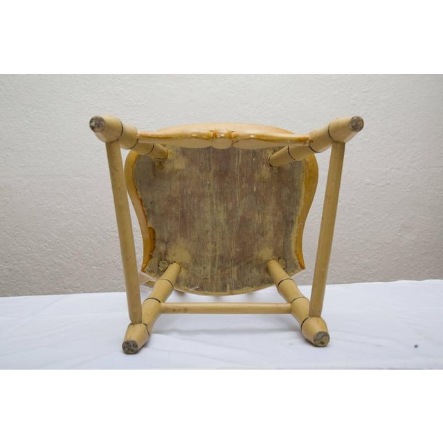 Yellow 19th Century Carved and Stenciled Childs Chair For Sale - Image 8 of 9