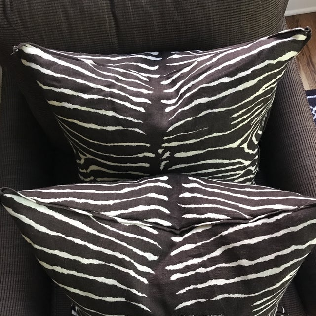Brunschwig & Fils Le Zebra Pillows- Pair - Image 4 of 7