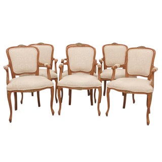 Louis XV Style Dining Chairs, S/6