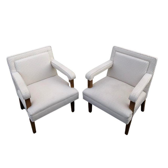 1970s Mid-Century Club Lounge Chairs - a Pair For Sale In Chicago - Image 6 of 6