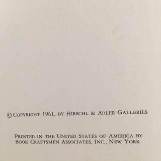 1960's Hirschl & Adler Galleries Art Catalogs - a Pair Preview