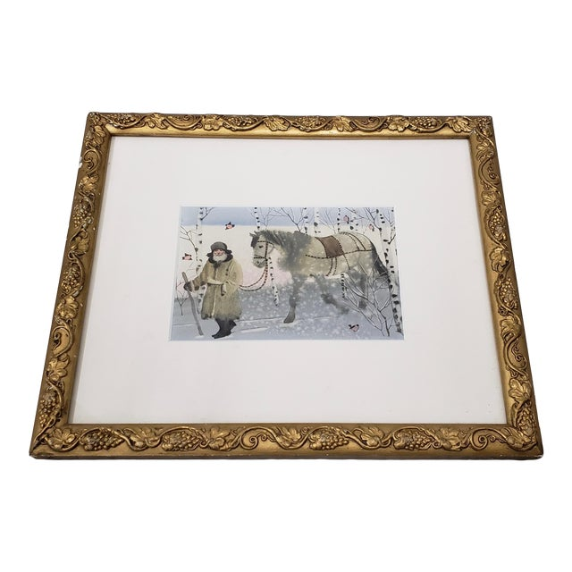 """A Winter Walk"" Original Watercolor Illustration For Sale"