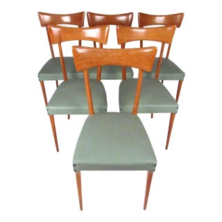 Italian Modern Ico Parisi Style Dining Chairs - Set of 6 For Sale