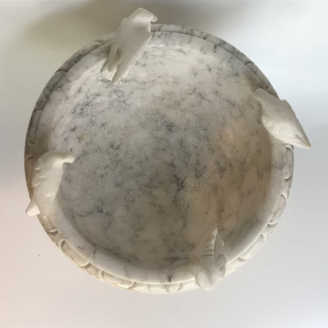 Italian 20th Century Italian Marble Bird Bath/Pedestal Bowl For Sale - Image 3 of 9