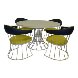 Mid-Century Round Table & Chairs - Dining Set
