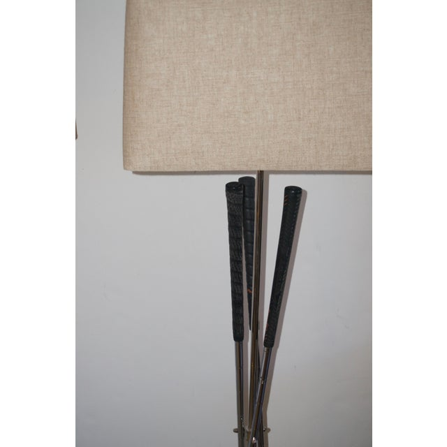 Folk Art Golf Club Floor Lamps With Power Bilt, Pouette & Stan Thompson Clubs - a Pair For Sale - Image 3 of 7