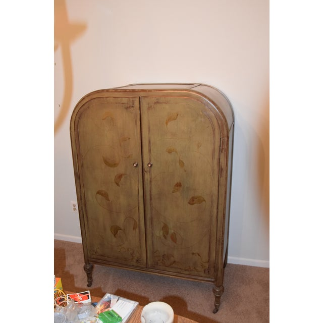 1920s Art Deco Style Hand Painted Armoire For Sale In New York - Image 6 of 6