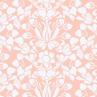 Mitchell Black Home Snapdragon Bleached Coral Premium Matte Paper Wallpaper For Sale