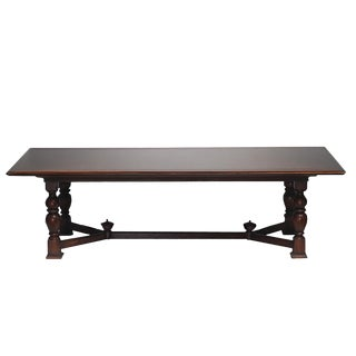 Large Rustic Alfonso Marina Hand Crafted Dining Table C.2003 For Sale