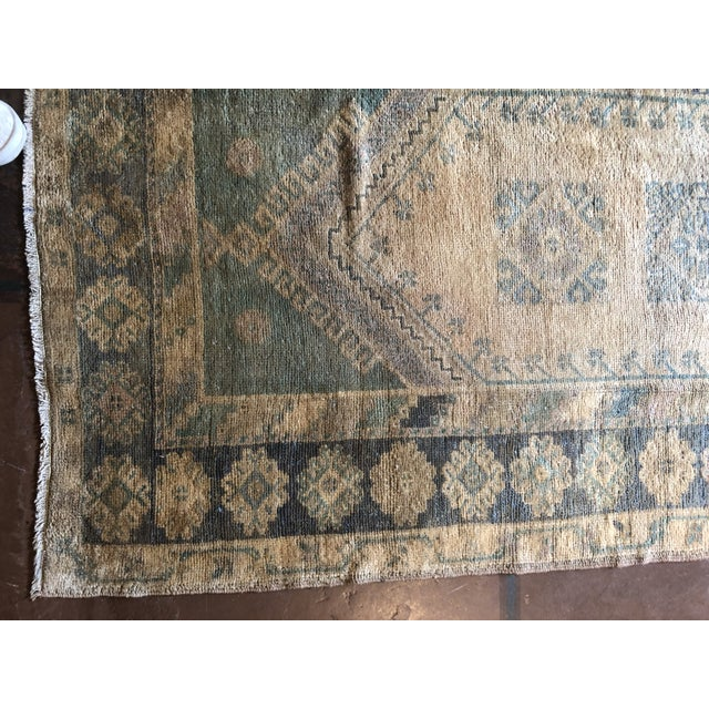 Islamic Antique Turkish Wool Oushak Prayer Rug For Sale - Image 3 of 11