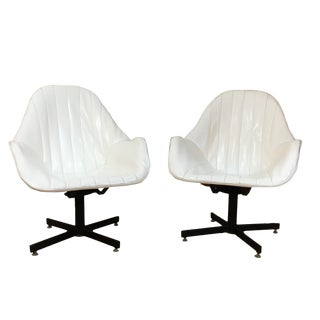 Vintage Modern Swivel Lounge Chairs - a Pair For Sale