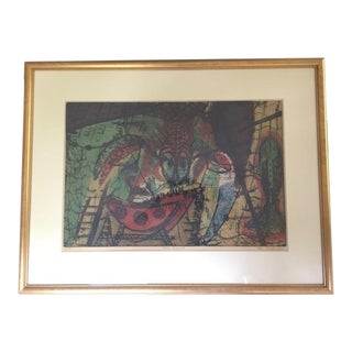 'The Hermit' Framed and Signed Print by Michael Francis Podulke For Sale