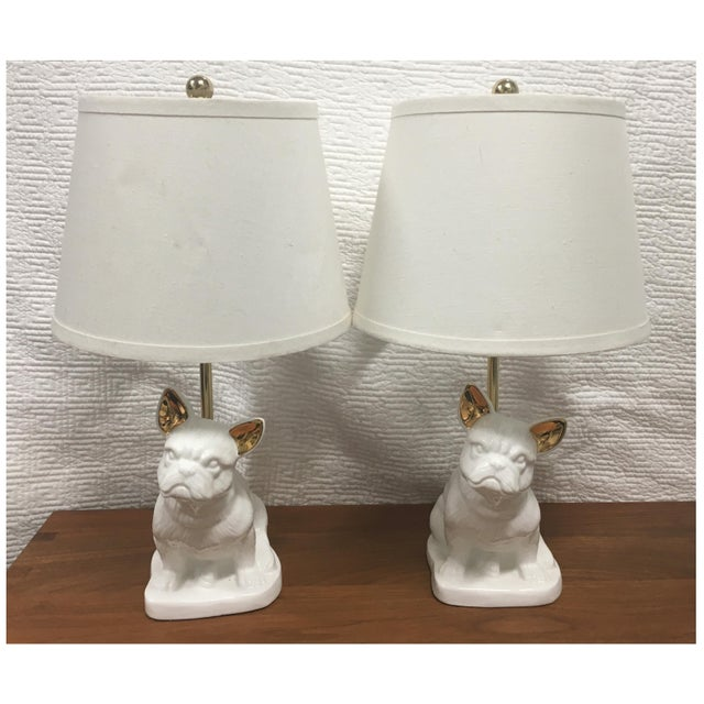 Pottery Barn PB Teen Bulldog Lamps - A Pair For Sale - Image 4 of 4