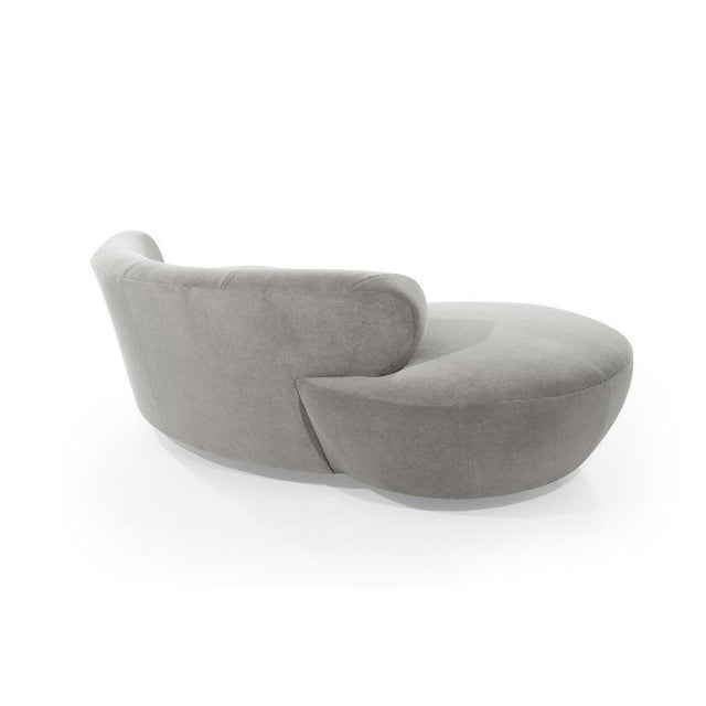 Mohair Cloud Sofa on Walnut Bases by Vladimir Kagan for Directional For Sale In New York - Image 6 of 13