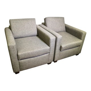 Pair of Gray Club Chairs