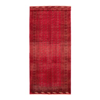 Red Hand-Knotted Afghan Tribal Rug For Sale