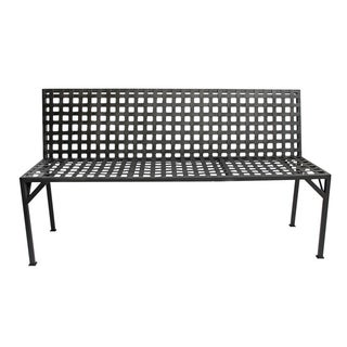 Steel Basket Weave Bench