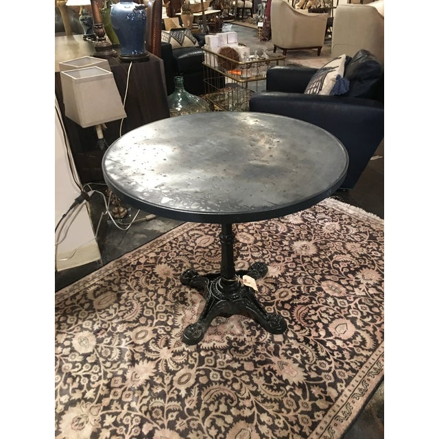 French Zinc Top Bistro Table For Sale In Denver - Image 6 of 12