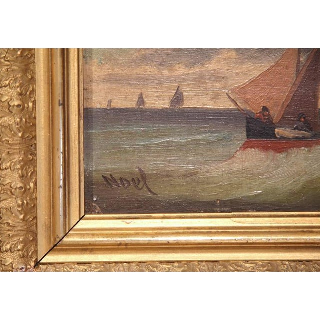 19th Century French Oil on Board Paintings - A Pair - Image 7 of 9