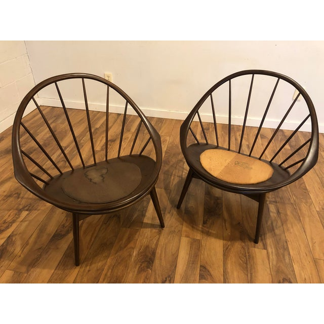 Ib Kofod Larsen for Selig Mid-Century Peacock Lounge Chairs - a Pair For Sale - Image 10 of 13