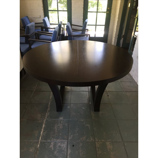 Extendable Dark Walnut Dining Table - Image 8 of 8