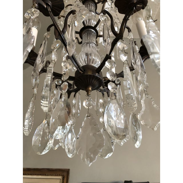 French Vintage Petite Marie Therese Crystal Chandelier For Sale - Image 3 of 9