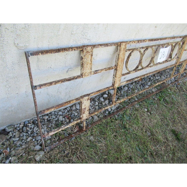 Antique Victorian Iron Gate Window Garden Fence Architectural Salvage Door #086 For Sale - Image 5 of 6