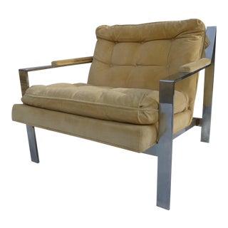 Vintage Chrome Armchair by Cy Mann