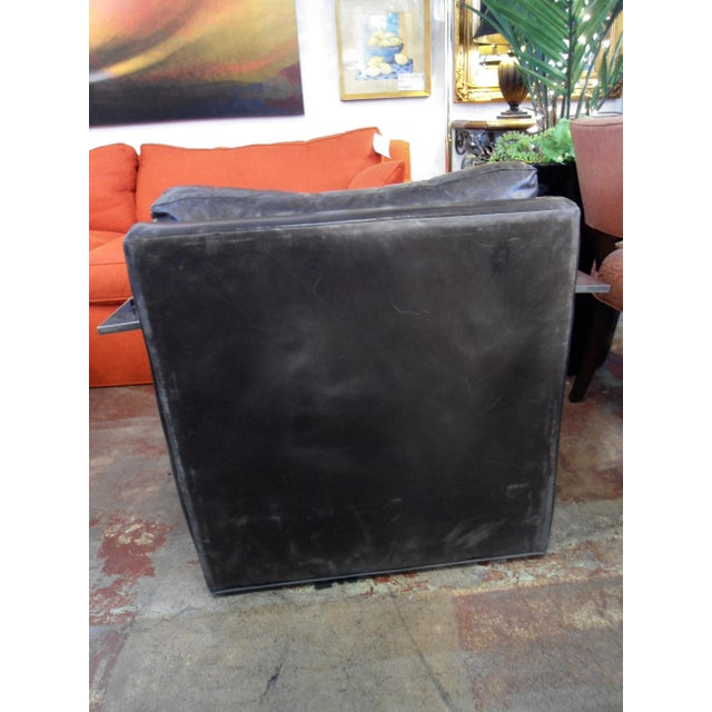 Ralph Lauren Black Saddle Leather Chair - Image 5 of 6