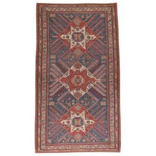 """Antique """"Sunburst"""" Sumak Carpet"""