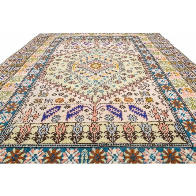"""Vintage Moroccan Rug 'Amina' - 4'9""""x6'8"""" - Image 3 of 6"""