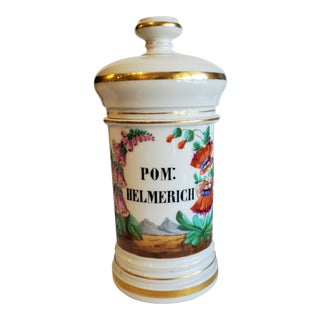 1900s Antique French Apothecary Jar For Sale