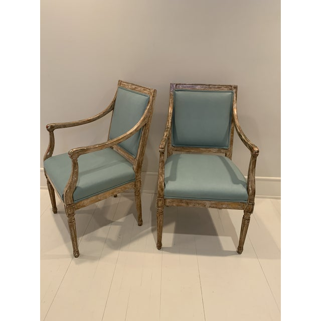 French Arm Chairs - a Pair For Sale In New York - Image 6 of 7