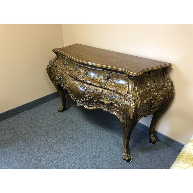 Italian Italian Carved Giltwood Bombay Chest Commode For Sale - Image 3 of 13