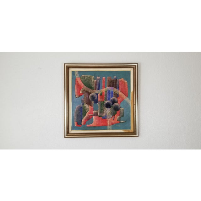 Postmodern 1990 Anna Goncharova Postmodern Style Abstract Painting For Sale - Image 3 of 13