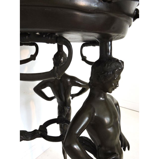 Magnificent Classical Italian Style Bronze 'Satyr' Planter / Brazier For Sale In Tampa - Image 6 of 9