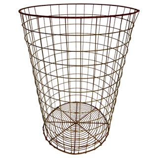 Wire Trash Can For Sale