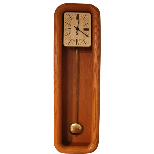 Arthur Umanoff for Howard Miller Mantel Grandfather Clock For Sale