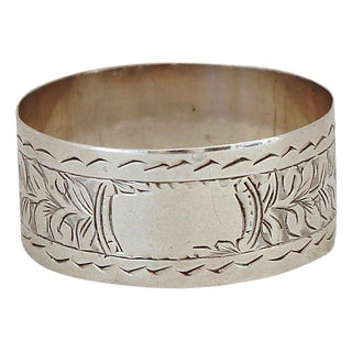 1978 Sterling Silver Blank Napkin Ring For Sale