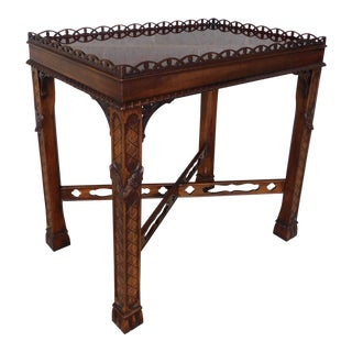 Henredon Natchez Collection Mahogany Accent Tea Table For Sale