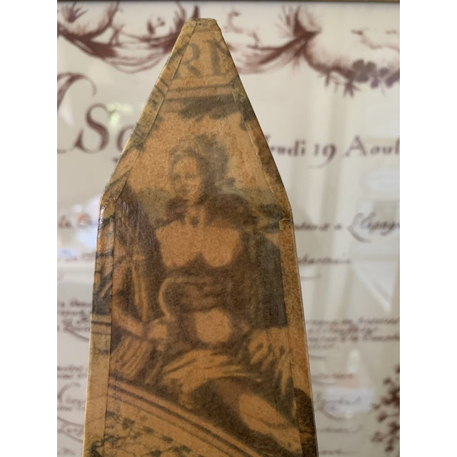 Early 20th Century Papier Mâché on Wood Pyramid. For Sale - Image 11 of 13
