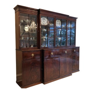 18th Century Traditional Mahogany China Cabinet For Sale