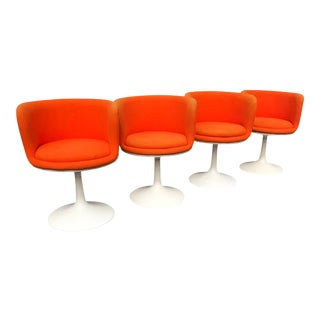 1970s Fiberglass Swivel Dining Chairs by TopForm- Set of 4 For Sale