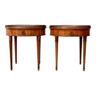 Henredon Bouillotte Tables, Pair For Sale