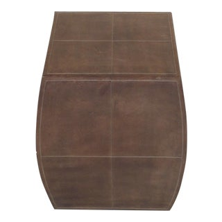 Traditional Wildwood Leather Accent Table or Stand For Sale