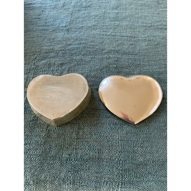1950s Heart Brass Trinket Box For Sale - Image 4 of 7