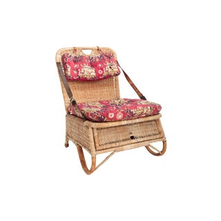Single Folding Rattan Picnic Chair