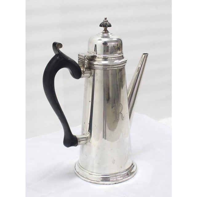 Jacob Hurd by Frank Whiting Sterling Silver Tea Coffee Pot For Sale - Image 4 of 8